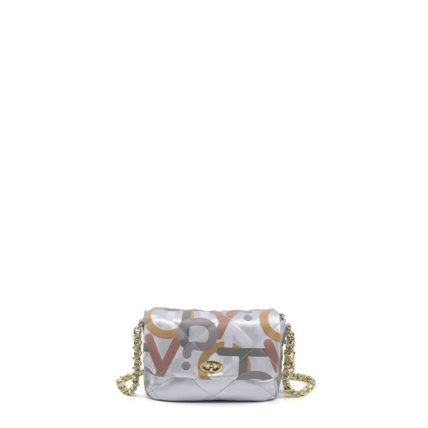 Flap Bag Small Silver