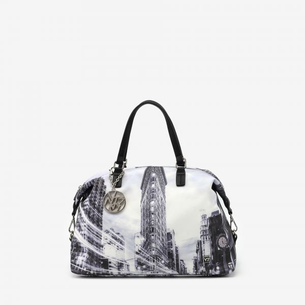 Tote Bag Double Handle Large New York Black