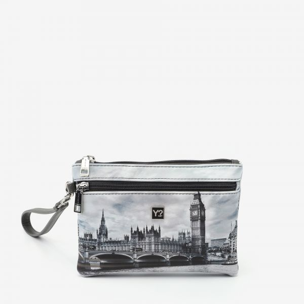 Pocket With Handle Small London Grey