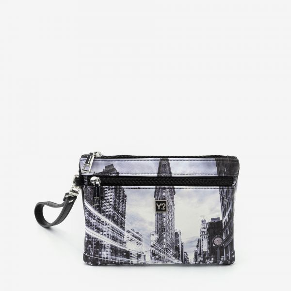 Pocket With Handle Small New York Black