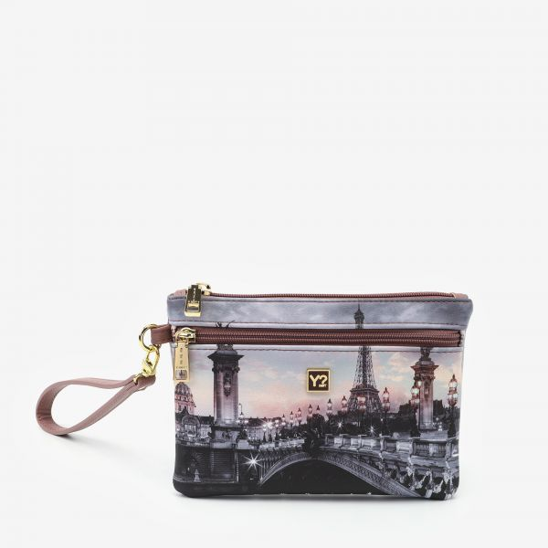 Pocket With Handle Small Paris Nude