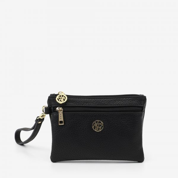 Pocket With Handle Small Nero