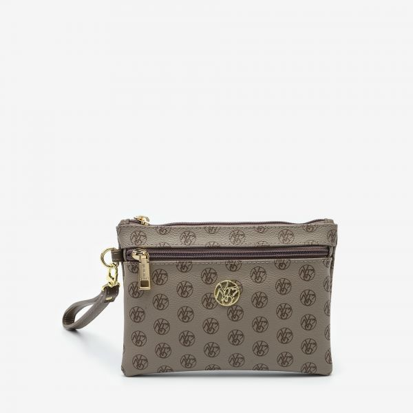 Pocket With Handle Small Taupe