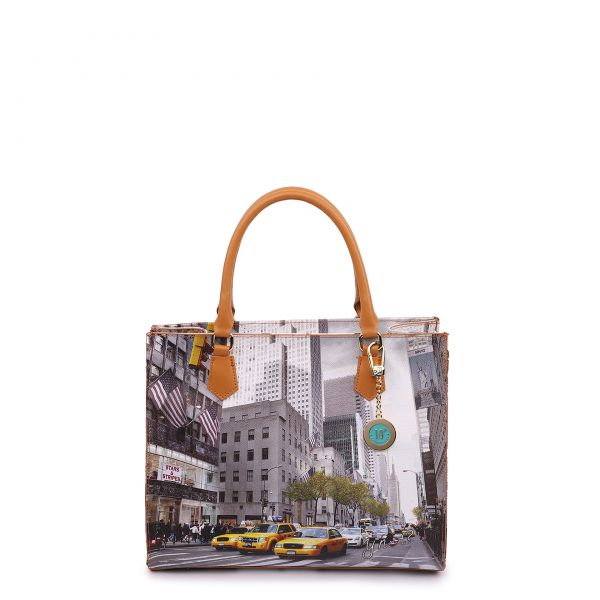 Tote Bag Square Large New York Streets