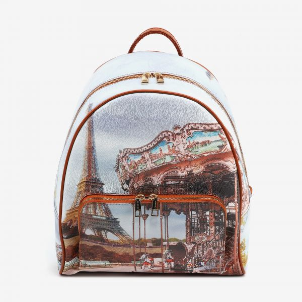 Backpack With Front Pocket Paris Tres Jolie