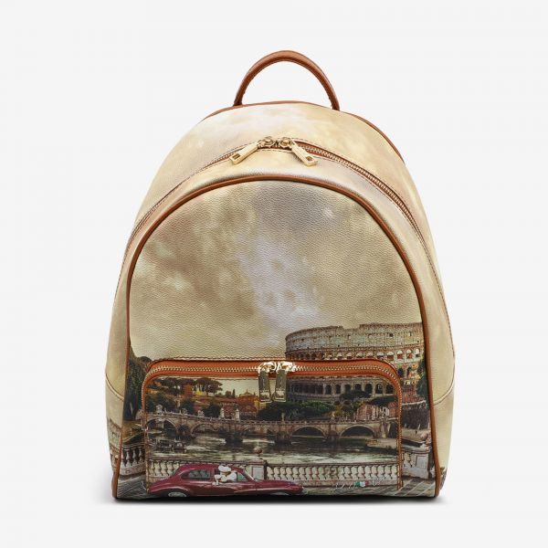 Backpack With Front Pocket Roma Vintage