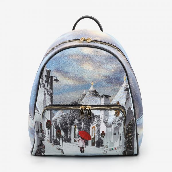 Backpack With Front Pocket White Puglia