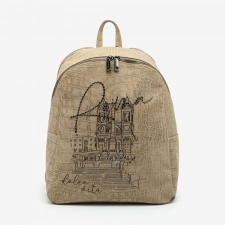 Backpack Large Roma Beige